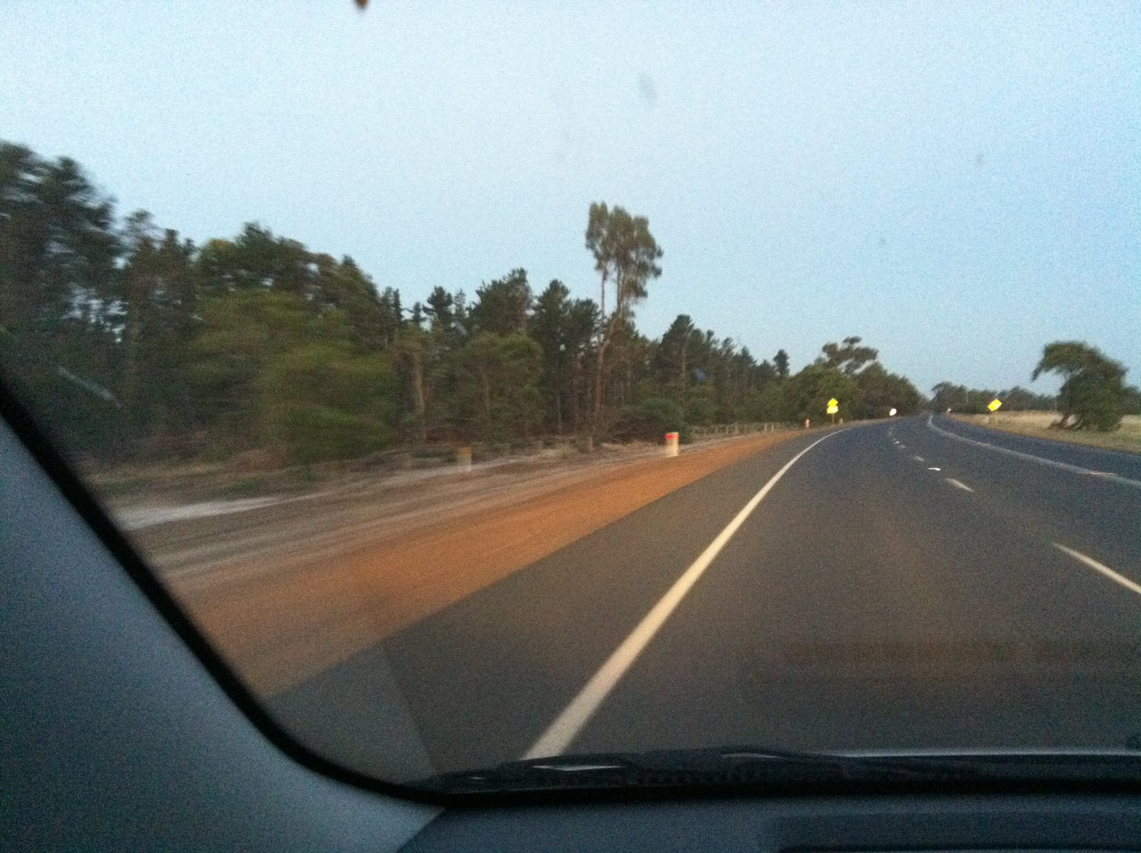 ... and on the road again ... we actually saw some kangaroos!