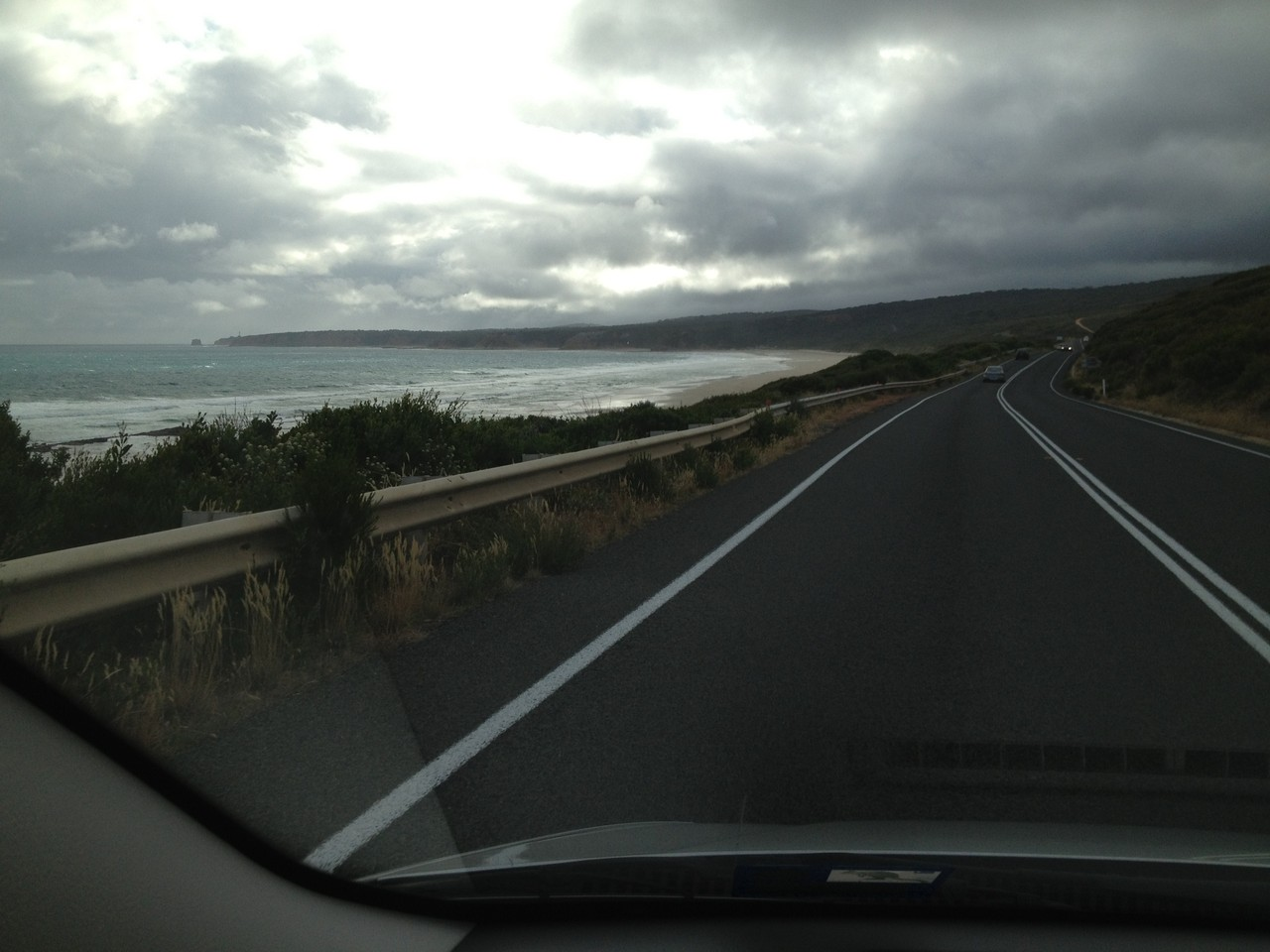 Lovely coast road # 4 with less lovely weather!