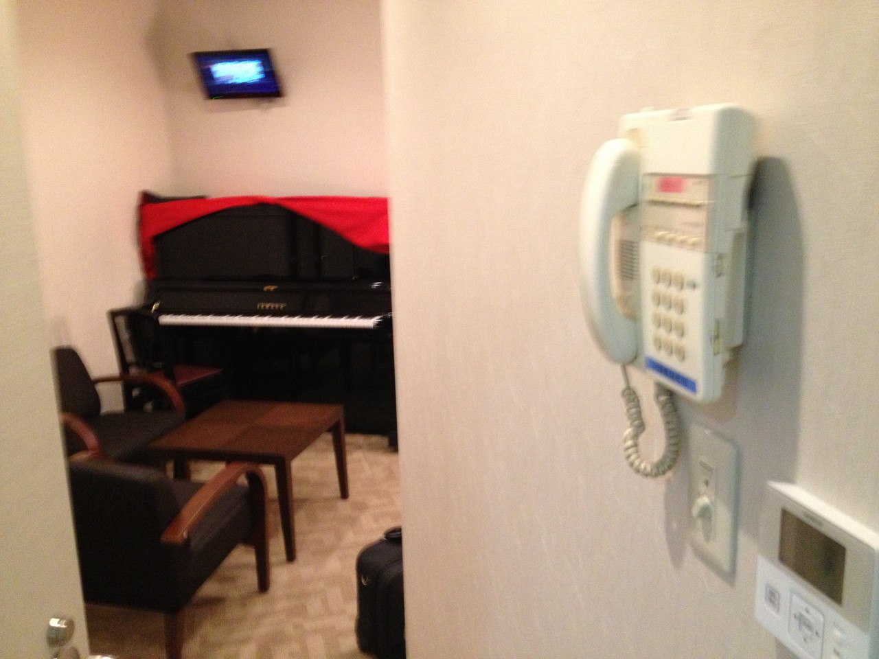 Dressing room with piano ... heaven! — at Orchard Hall Shibuya.