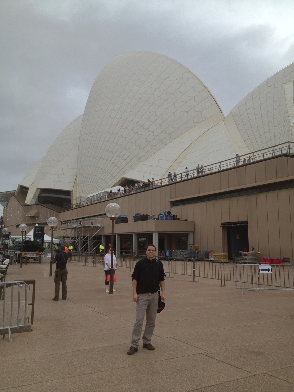 One photo outside this most iconic venue ... I knew I wouldn't get a chance to come out again ... — at Sydney Opera House.