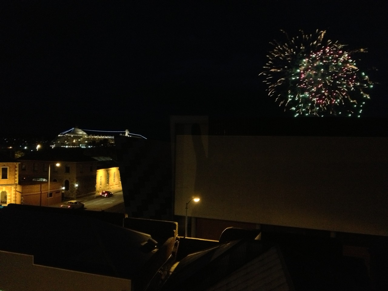 It's the 31st Dec and back at the hotel I see fireworks out of the window. Far away from family, I am