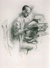 Emil Orlik: Der Dichter Klabund (1913). Lithohraphie