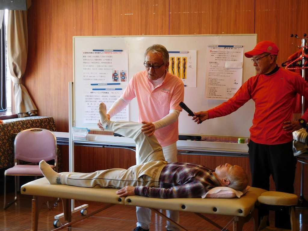 男性整体師による健康講話と整体実施