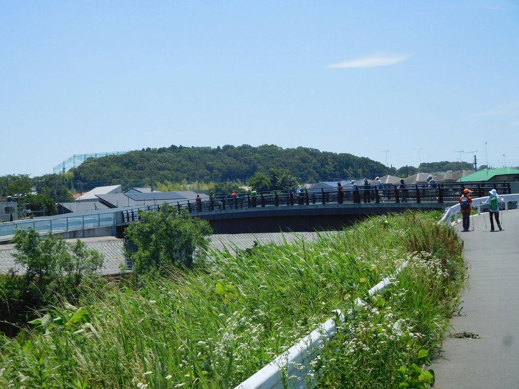 「八和らぎ橋」を通過中 鶴見川をまだまだ下ります