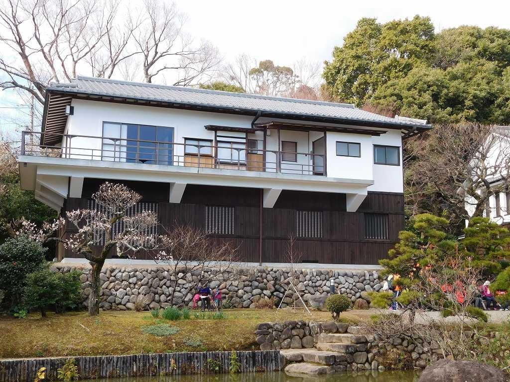 松永記念館全貌、老欅荘は建物の後ろで見えませんでしたがトイレ拝借しました
