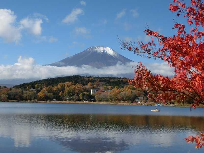 途中での富士山 雲が出ていますがこれも絵になりますね