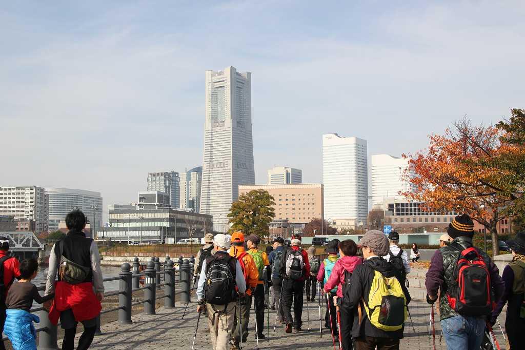 ここからも横浜ランドマークタワーが綺麗に見えます