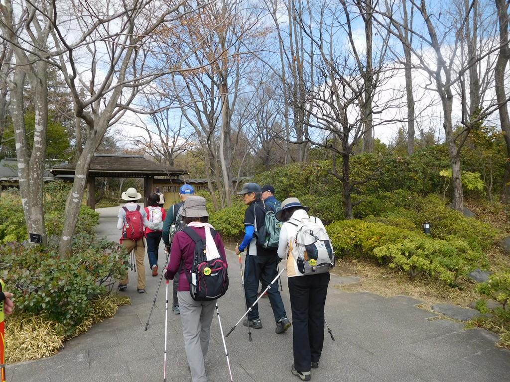 日本庭園で40分の散策
