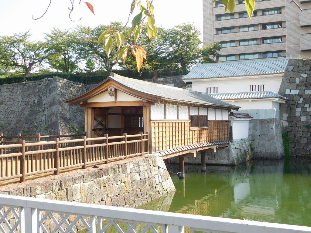 家康次男 結城秀康築城の福井城途上用の御廊下橋