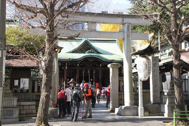 鉄砲洲神社参拝 埋め立てられた地形が種子島に似ているとの由