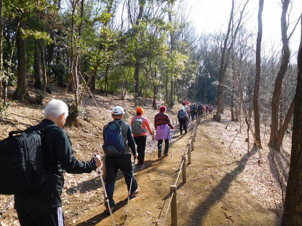 川和富士公園を目指して