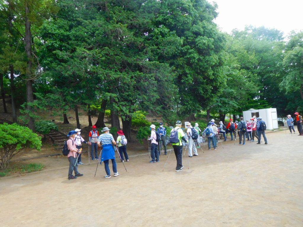 ANWでは初めての梅が丘第二公園で休憩
