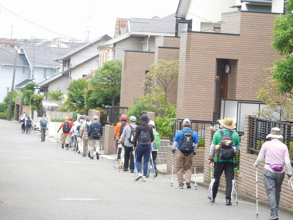 一列の歩行 加えて2m 間隔を意識して歩きましょう