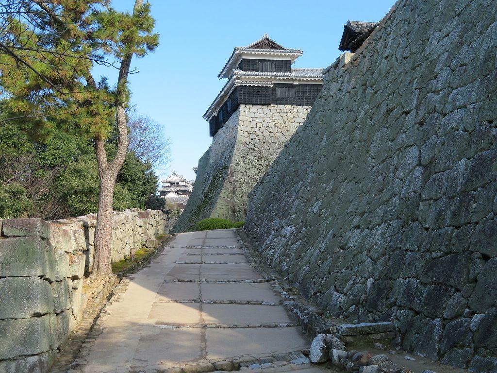 石垣が立派な松山城