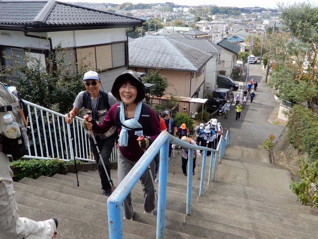 「疲れた~」 健康のためにもしっかり階段を歩きましょう