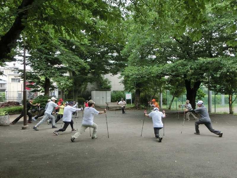 佐江戸公園でクールダウン一応此処で解散です