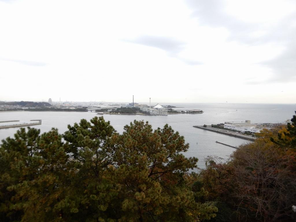 展望台から眺める八景島シーパラダイス 晴れてたら良かったのに・・・・