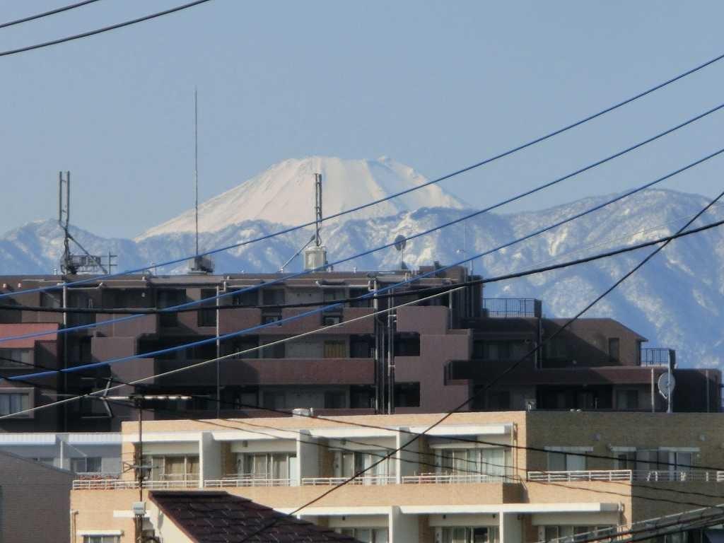 荏田西付近で富士山を眺める