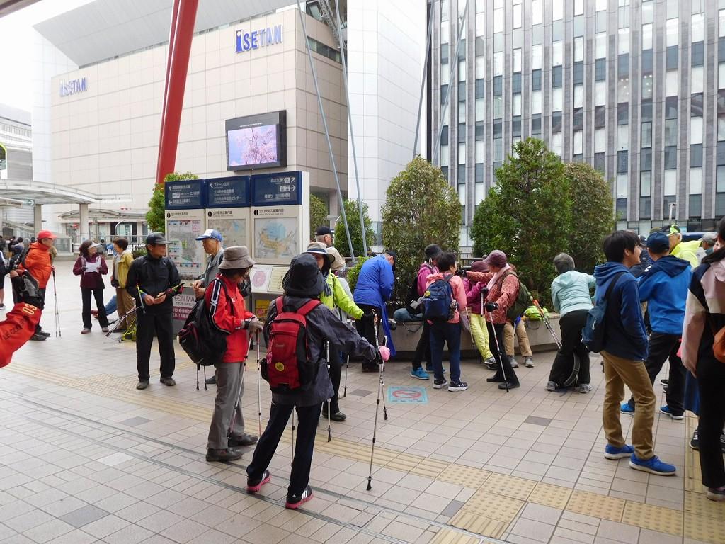 立川駅 集合時間前に全員集合
