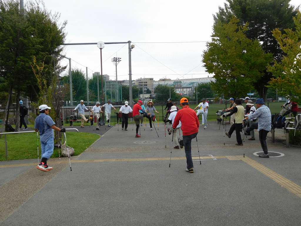 谷本スポーツ公園でウォーミングアップ