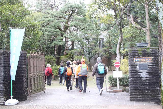 小田原文学館到着