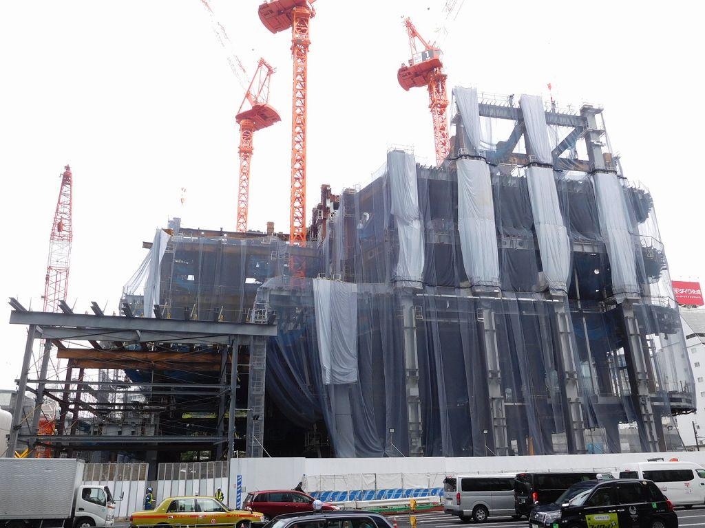 日本一高い建物の建設現場