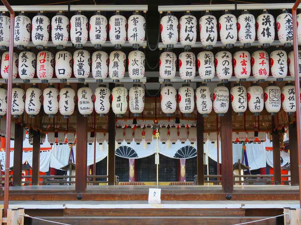 八坂神社の正面舞台