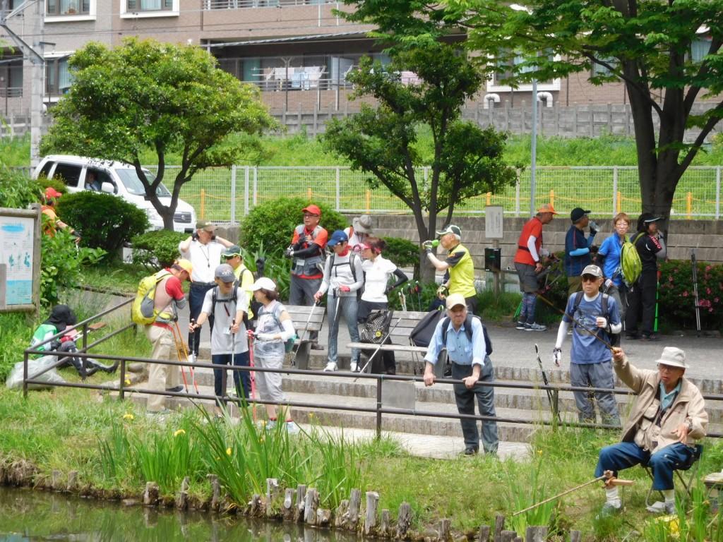 藤ヶ丘公園休憩風景