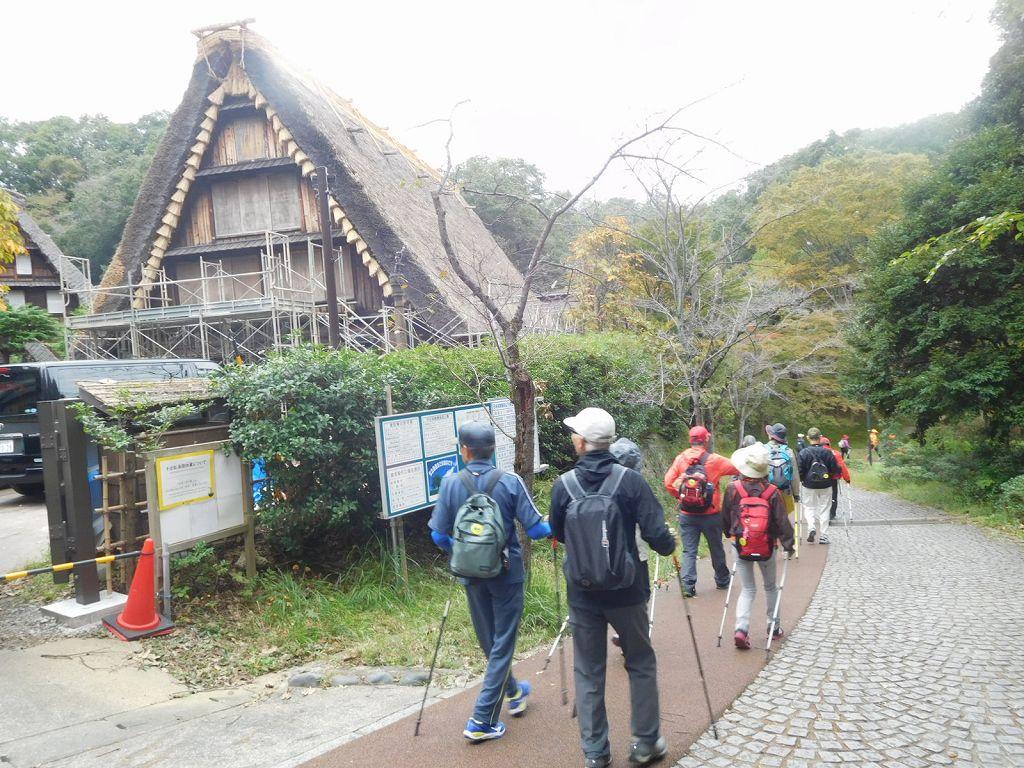 日本民家園 修理中のようです
