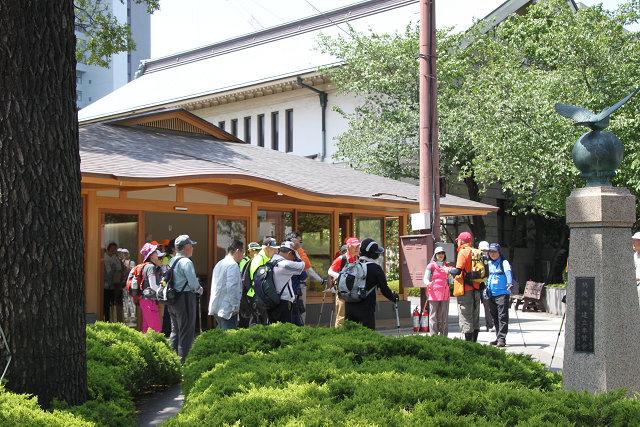 靖国神社で昼食後 再スタート