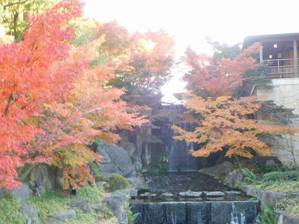 龍門湖 尾張藩江戸下屋敷(富山屋敷)の遺構から発掘された石材を使用 鯉が滝を登って龍になったという伝説の登竜門を表現した滝