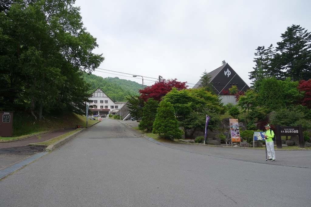 宿舎「ほろほろ山荘」入口