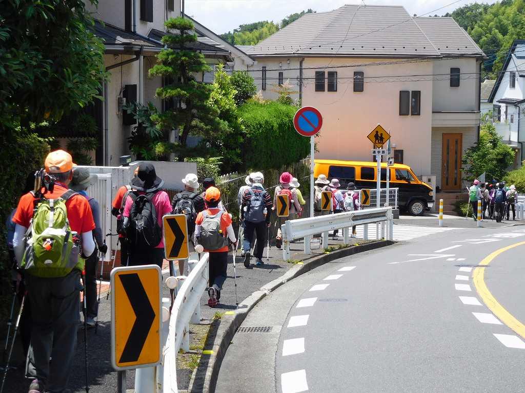 武州柿生琴平神社へ向けて住宅地を歩く