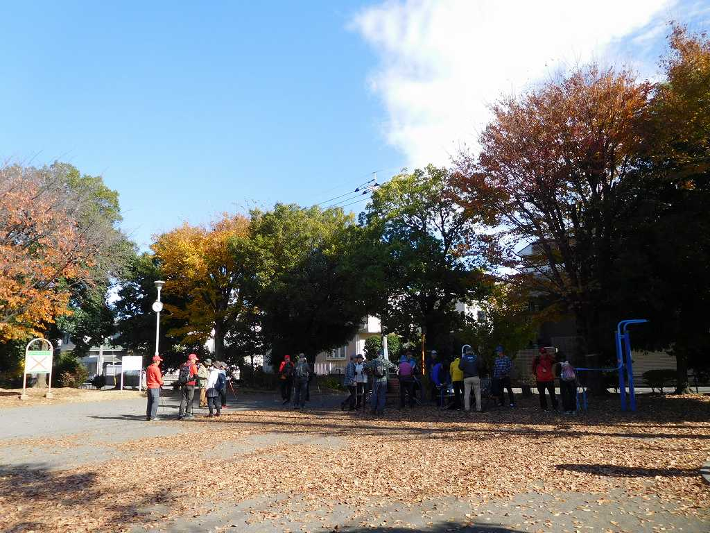 泉田向公園で休憩