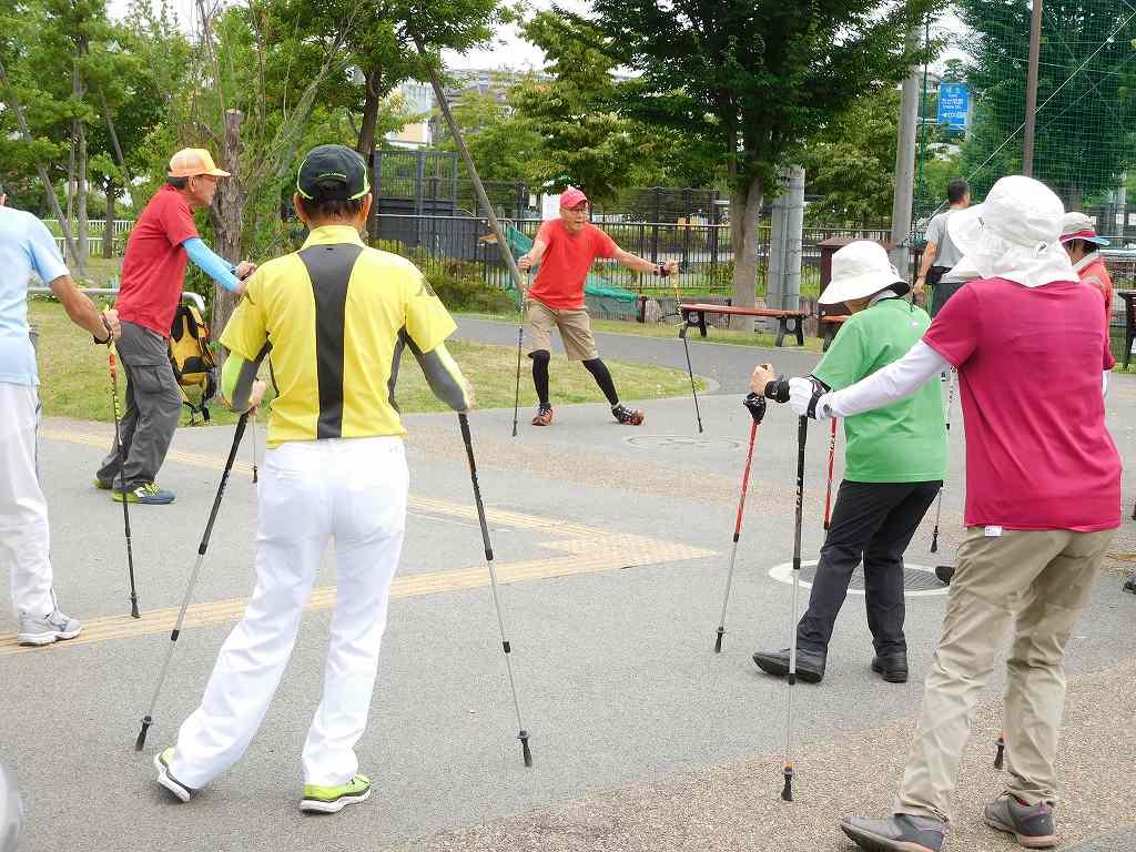 谷本スポーツ公園でクールダウン