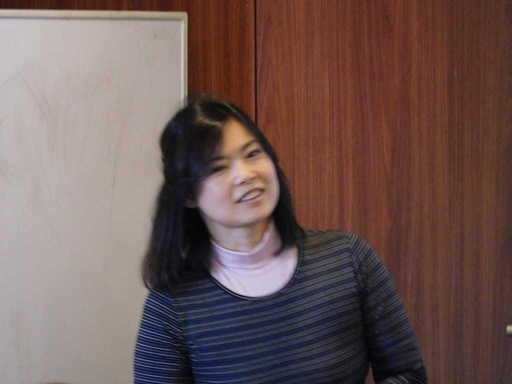 今回で4回目の講師 中藤先生 ピンボケでゴメンナサイ