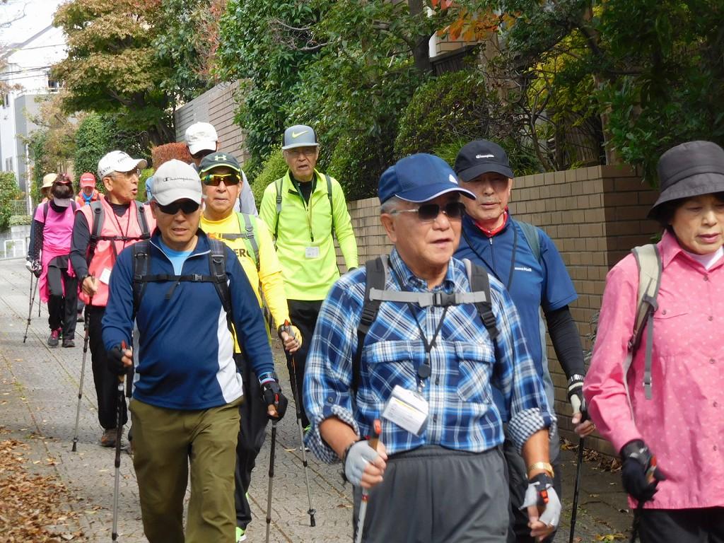 荏田西遊歩道を歩きます