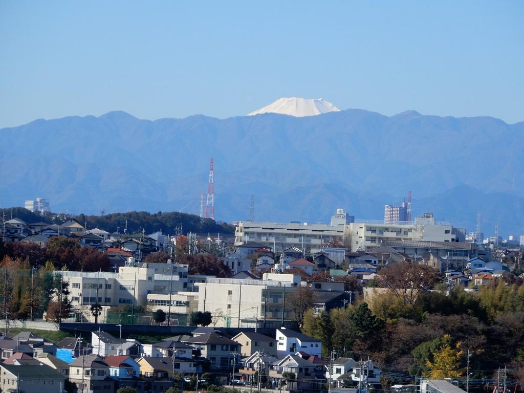 大場町住宅街と富士山の眺望を楽しみました