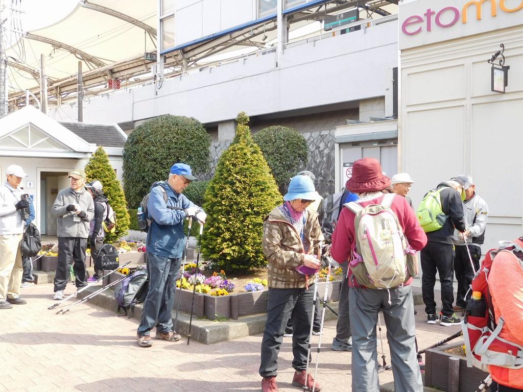 江田駅で列詰め・休憩
