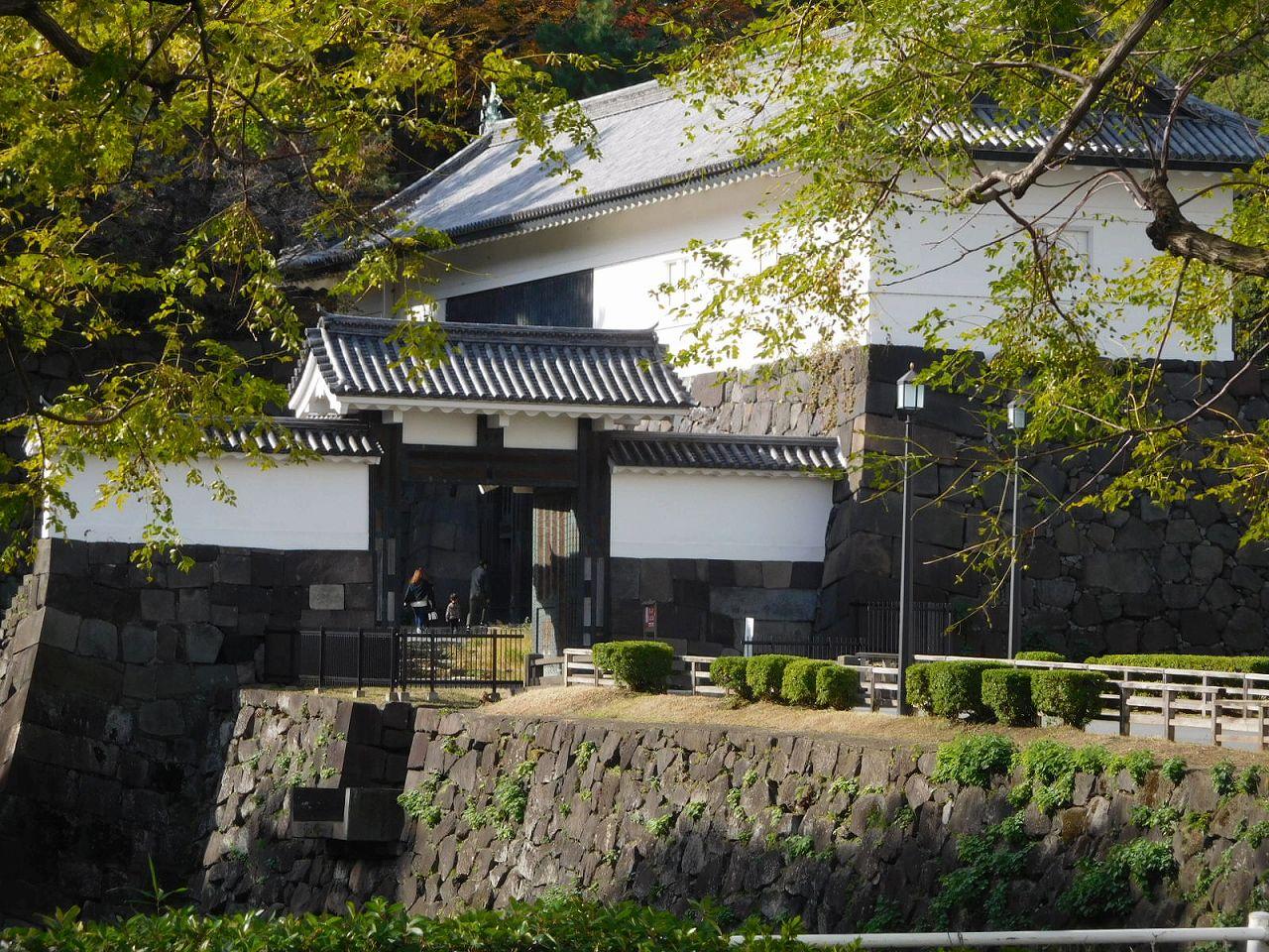 和宮が入場した清水門 国の重要文化財に指定されている
