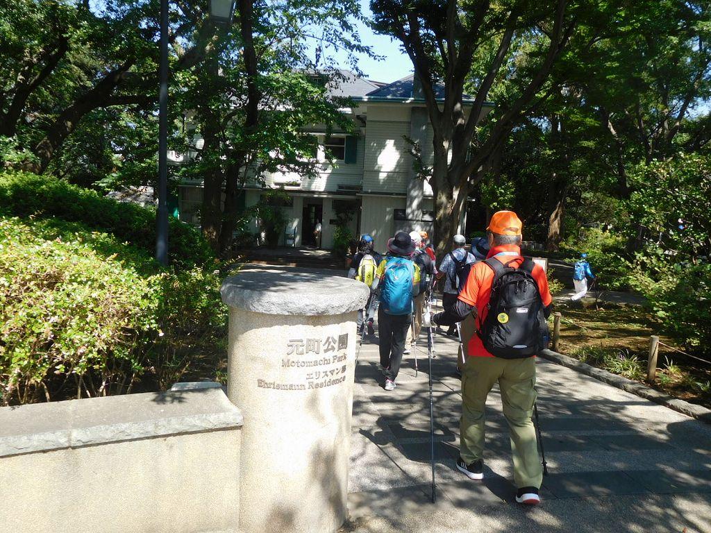 元町公園を通過