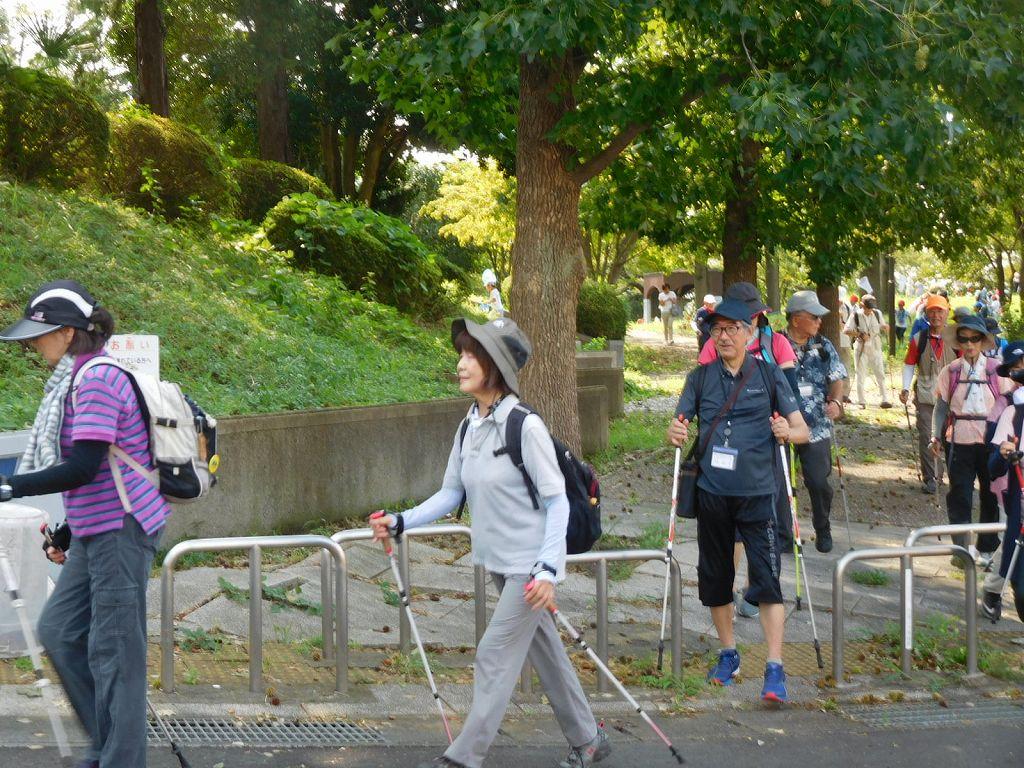 久し振りのNWw@ぬ皆さん颯爽と歩き始めました