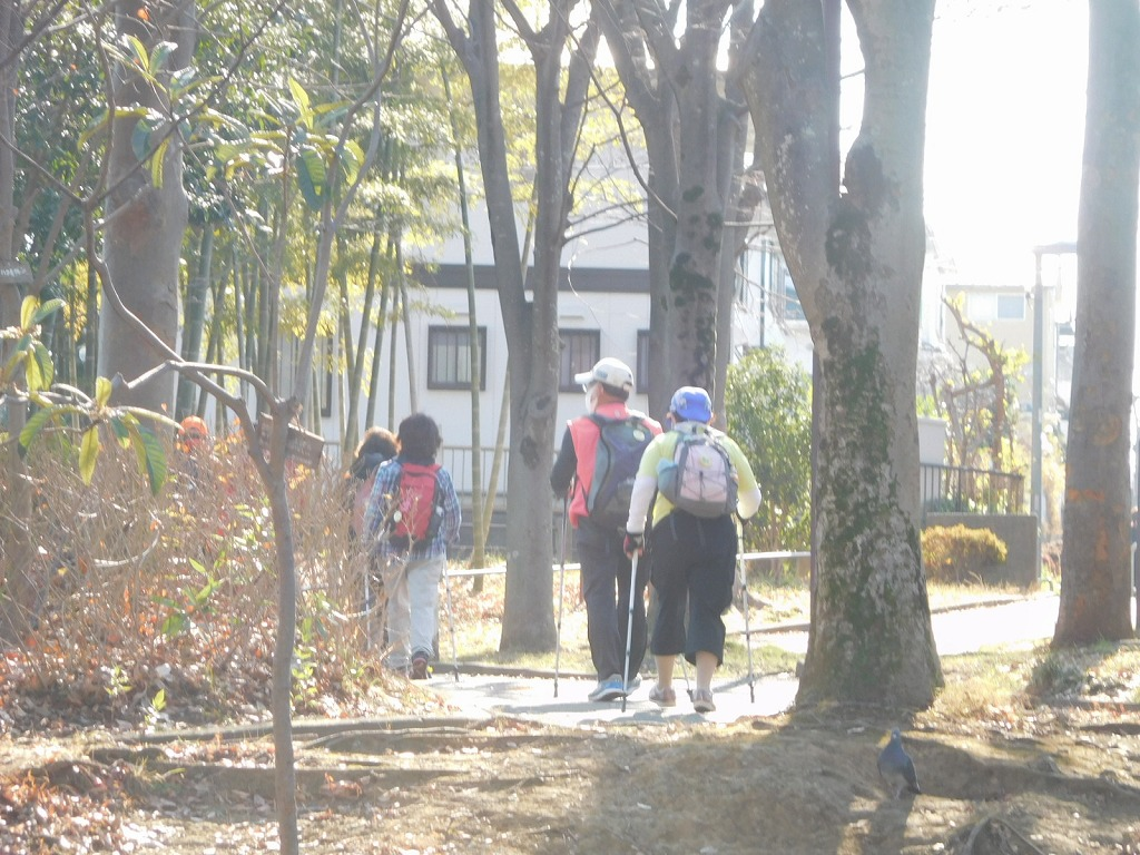 荏田猿田公園を通過中