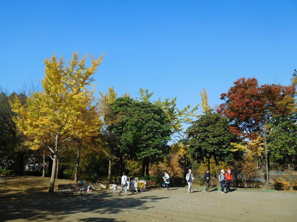 最後尾4名が泉田向公園に到着