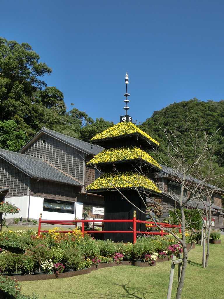 島津藩別邸「仙巌園」別名「磯庭園」を見学