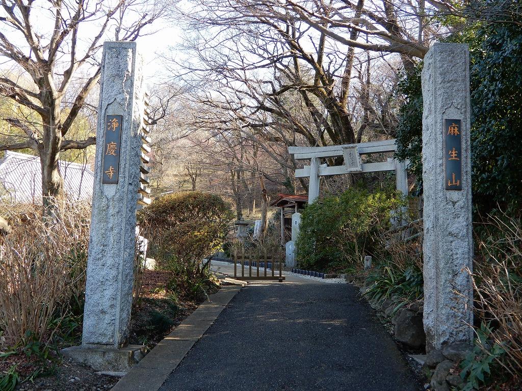 1621年創建の浄慶寺 右に見える鳥居は秋葉神社