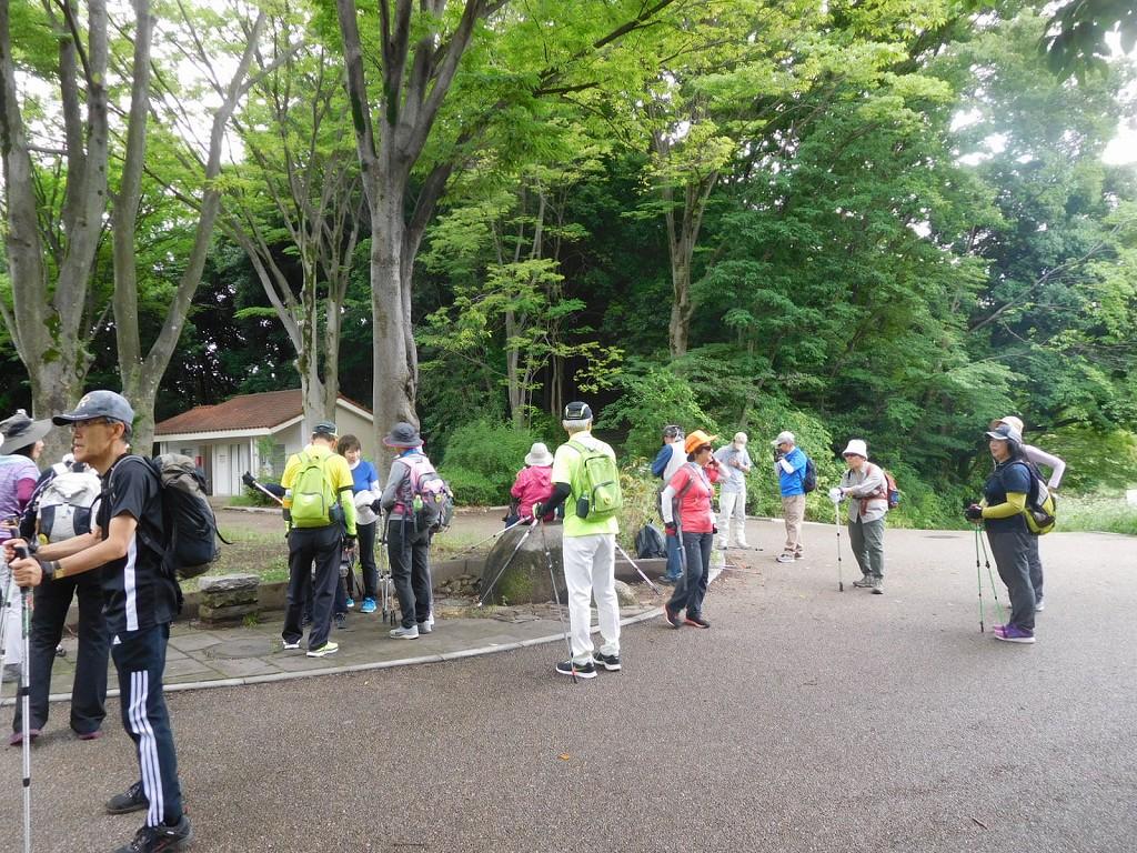鴨池公園で一班と合流した二班