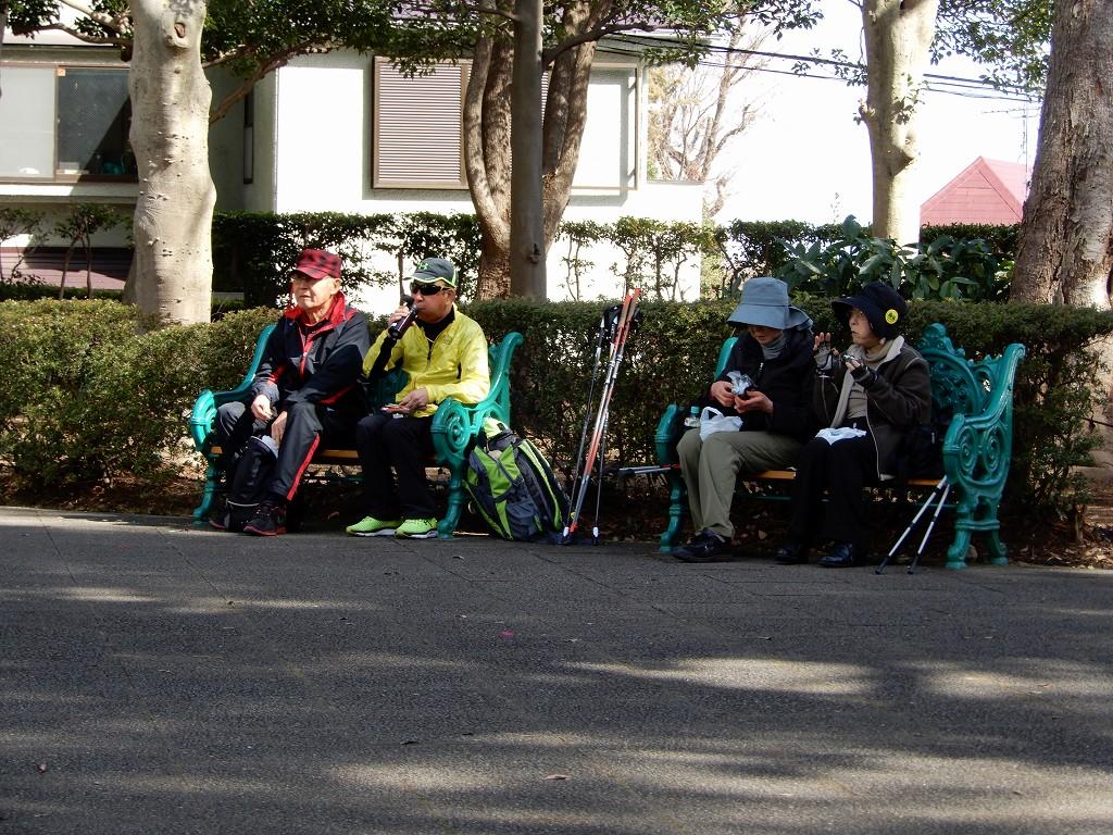 梅林で食事する人・大倉山記念公園で食事する人に別れました