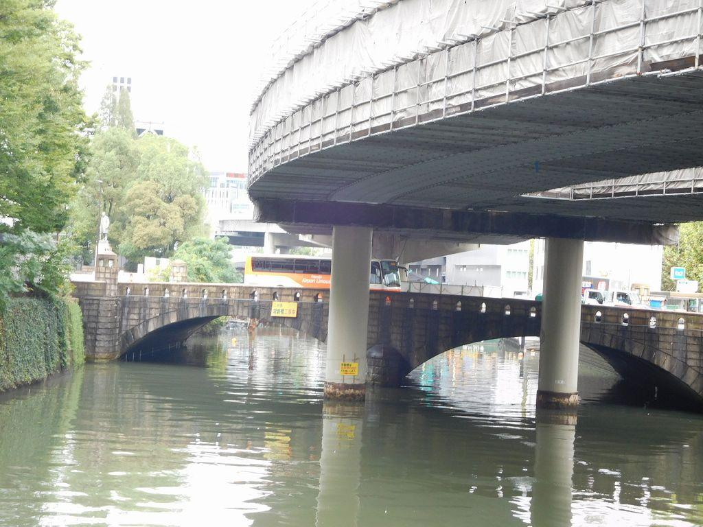 修理中の常盤橋