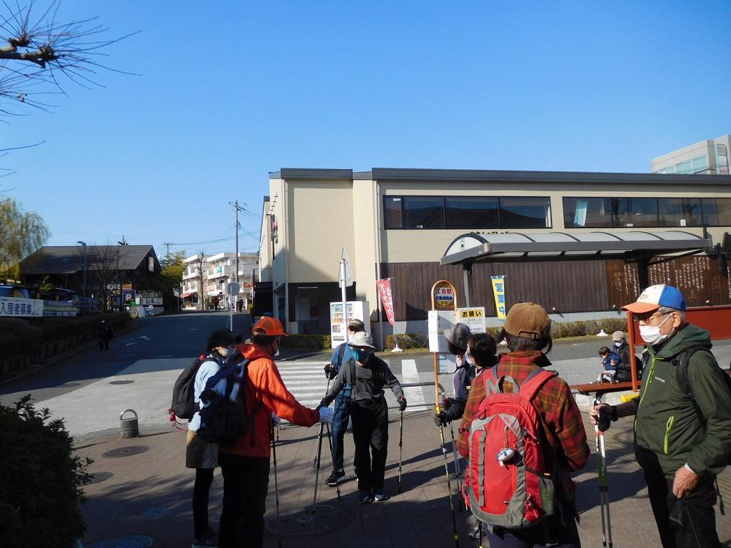 江田駅で休憩 ここで半数の方がリタイア 年末は忙しいようです